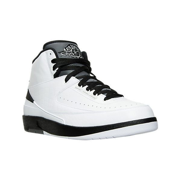 Nike Men's Air Jordan Retro 2 Basketball Shoes, White ($190) ❤ liked on