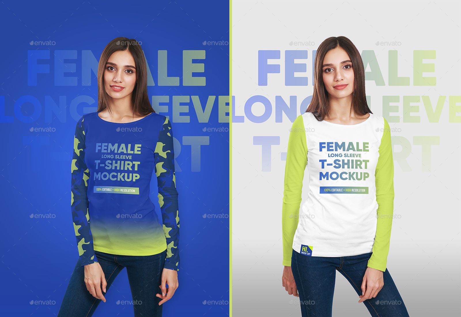 Download Female Long Sleeve T Shirt Mockups Long Female Sleeve Mockups Long Sleeve Tshirt Shirt Mockup Sleeves