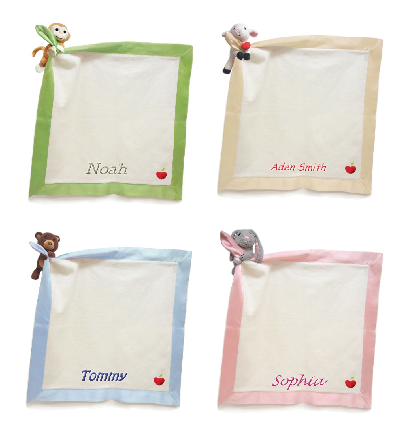 Apple park organic personalized baby security blankets baby girl apple park organic personalized baby security blankets negle Image collections