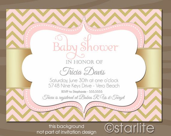 Chevron++Pink+and+Gold+Champagne++5x7+Baby+Shower+by+starwedd,+$ - free baby shower invitation templates printable