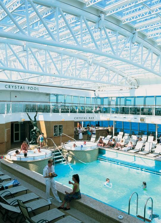 The Indoor Crystal Pool On The Aurora Cruise Holidays P