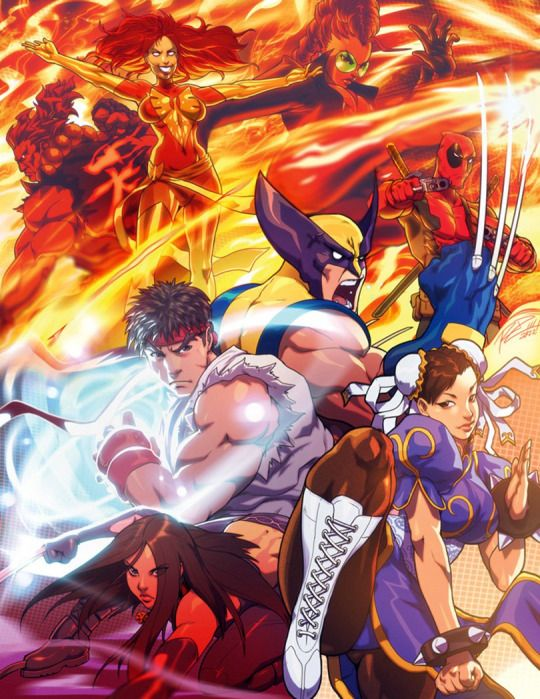 Astonishingx Capcom Art Street Fighter Art Marvel Vs Capcom