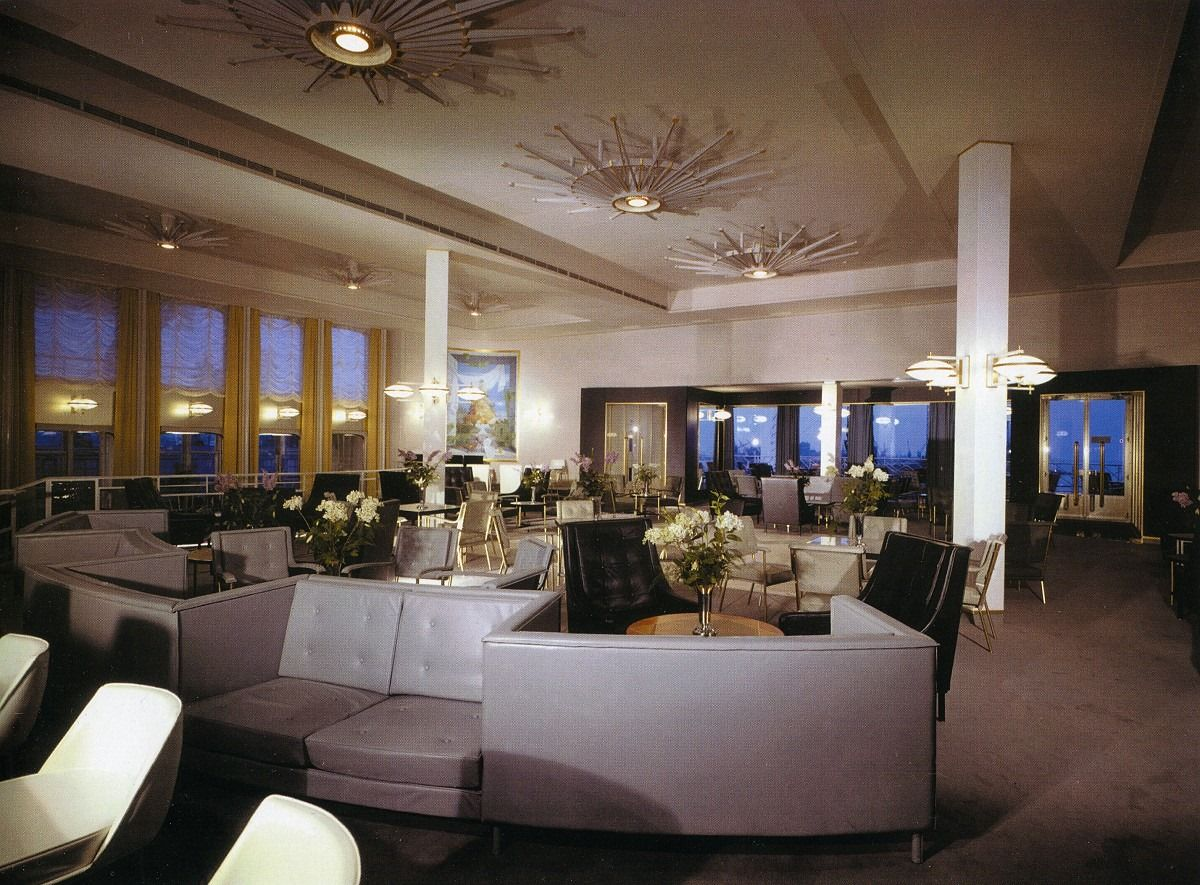 first class smoking room, SS France | Interior styling ...