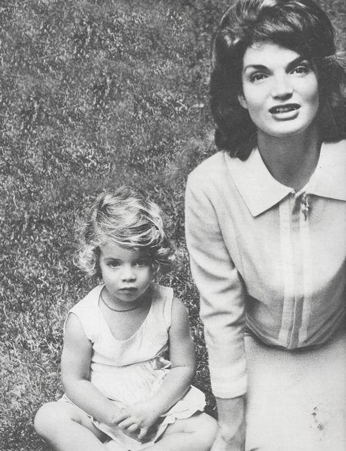 Caroline with Jackie Kennedy.