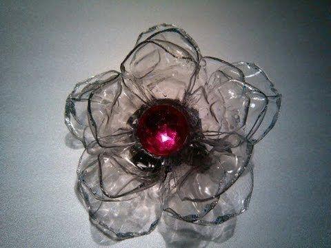 Rosas de pet botella de pl stico reciclaje roses made of - Flores de plastico ...