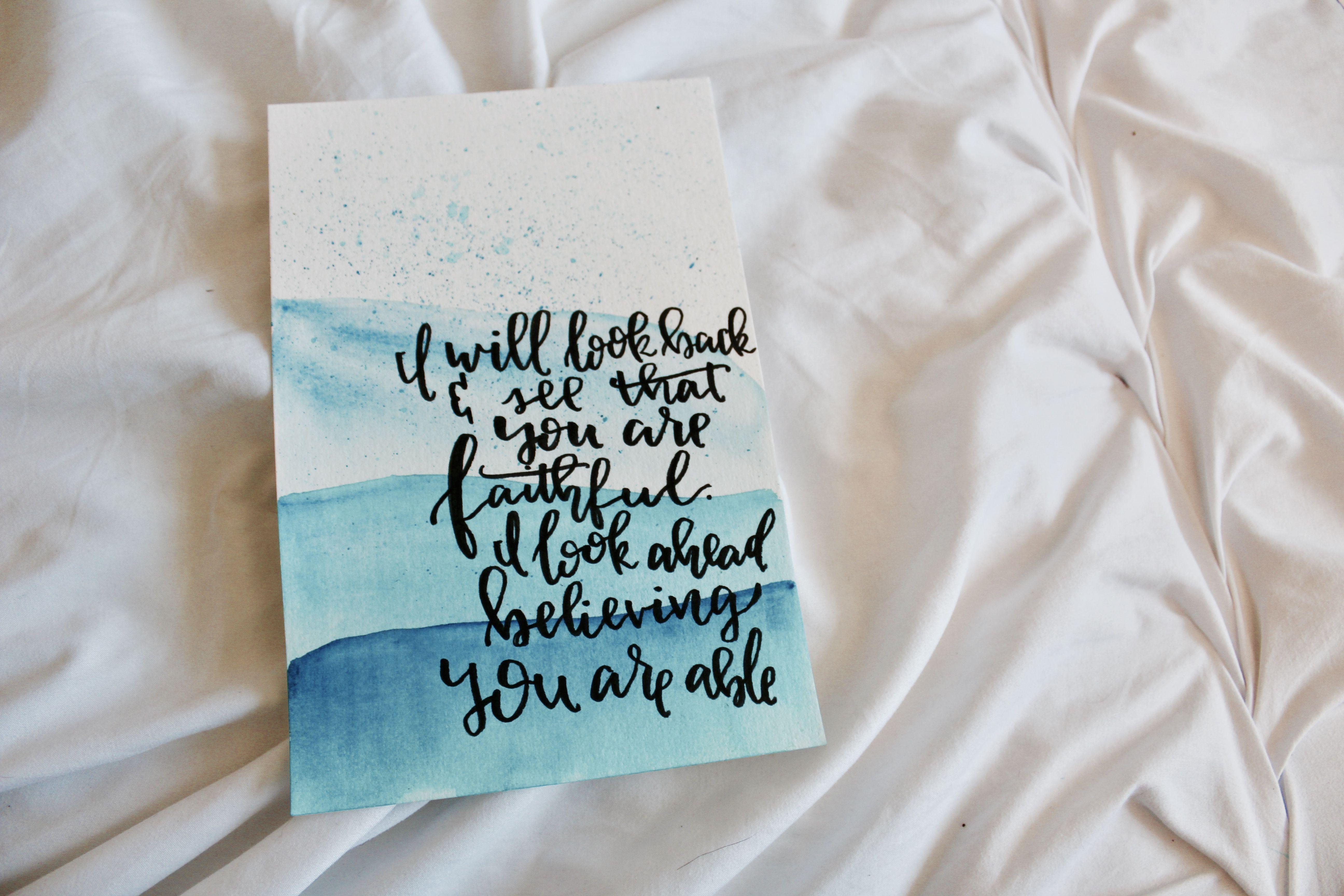 hand lettered Elevation Worship lyrics. See more at LetteringByMary ...