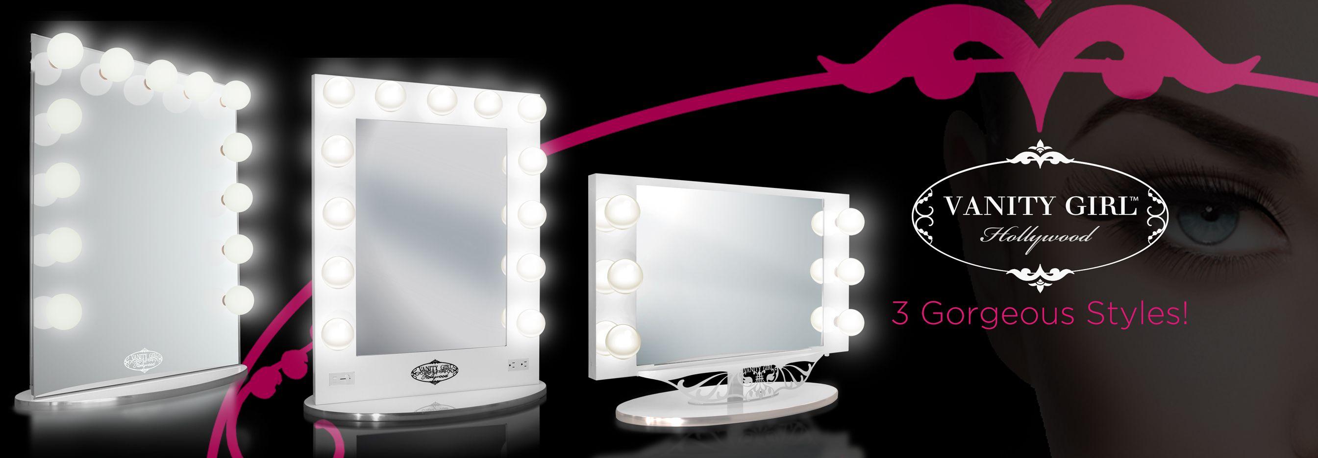 Vanity Girl Hollywood Lighted Vanity Makeup Mirrors Me Makeup