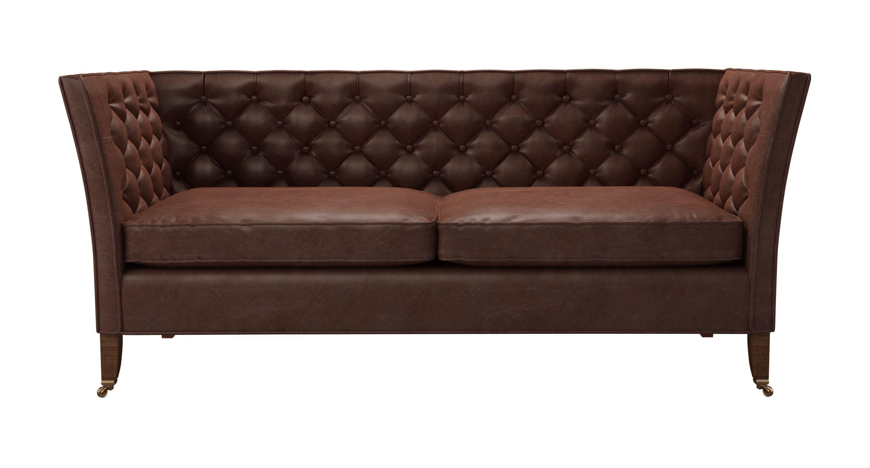 Descartes 2 5 Seat Sofa In Satchel Vintage Leather Sofa Old Sofa Sofa Drawing