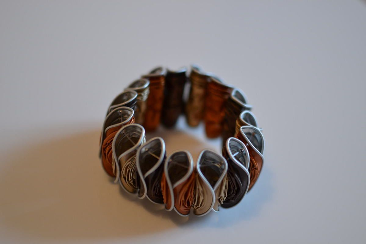 Assez Bracelet style asie en Capsules Nespresso - L. et ses p'tites  AH51