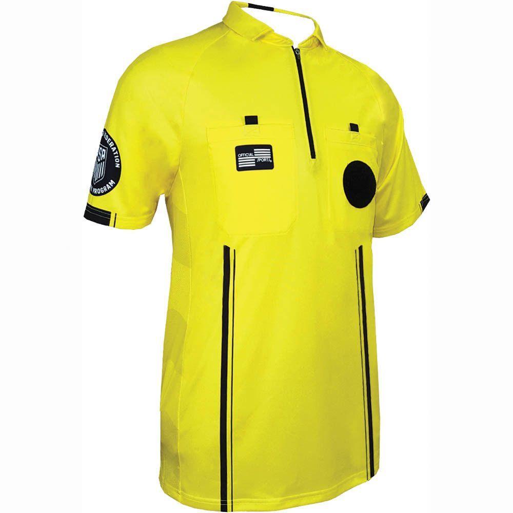Ussf Pro Short Sleeve Shirt Soccer Referee Gear Soccer Referee Fall Football Outfit Football Jersey Shirt