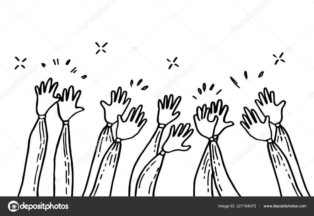 Download Doodle Of Hands Up Hands Clapping Applause Gestures Congratulation Business Vector Illustration Stock Illustration