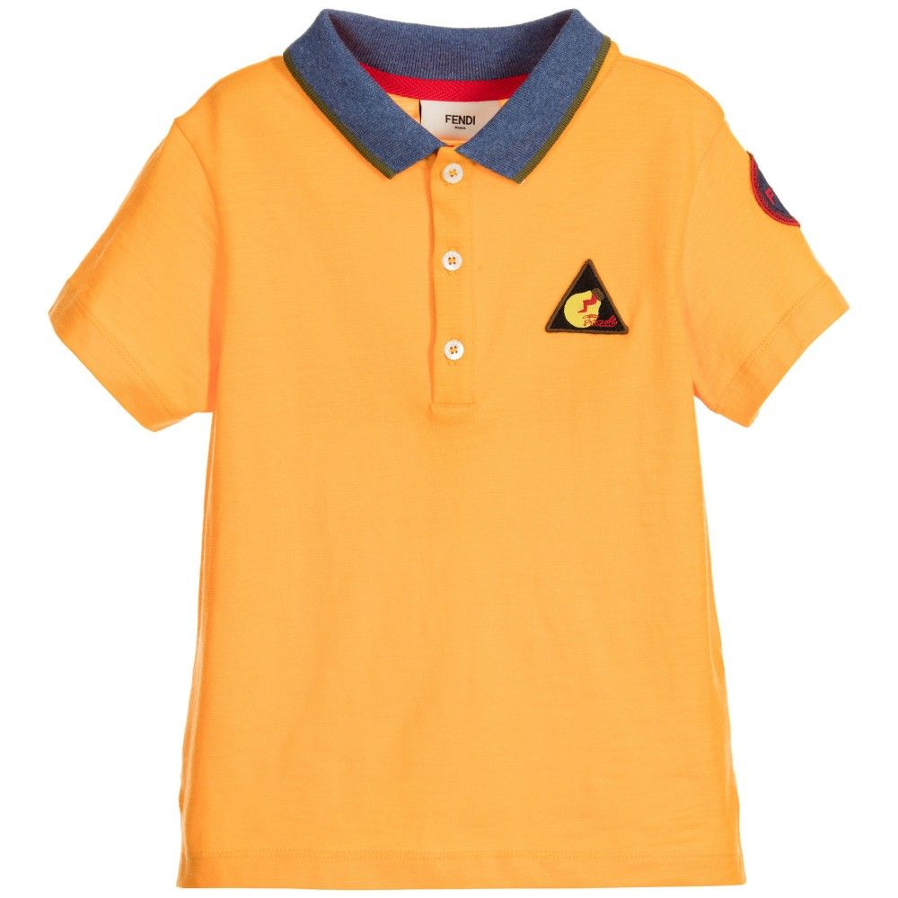bdc0c4c553b5 Boys Orange Logo Polo Shirt