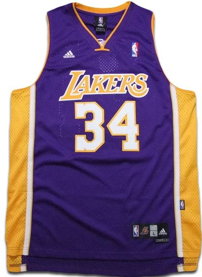 41ee9d12988 Shaquille O Neal Jersey Swingman 34 Los Angeles Lakers PURPLE ...