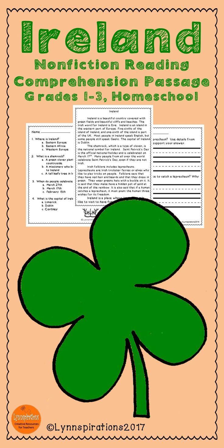 March Activities Ireland Reading Prehension