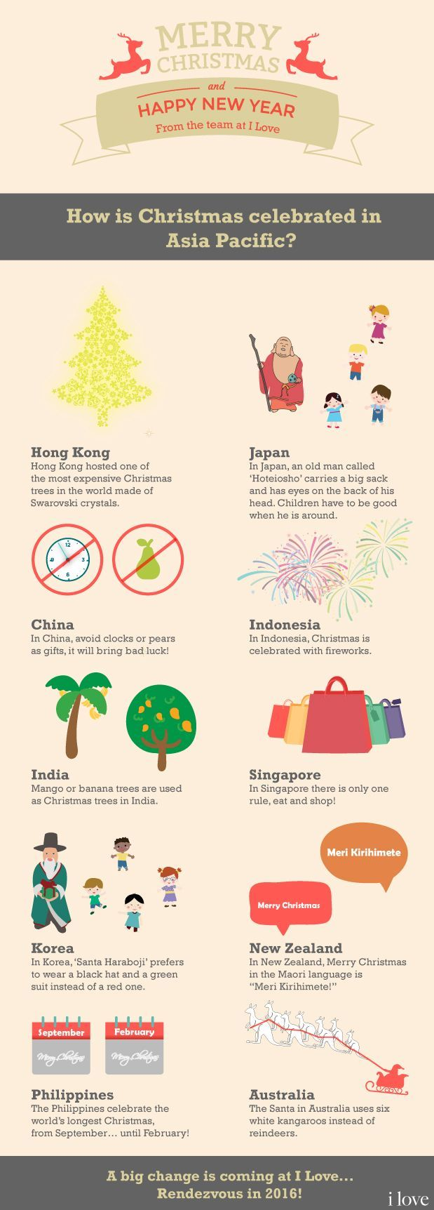 How is Christmas celebrated in Asia Pacific? #Infographic ...