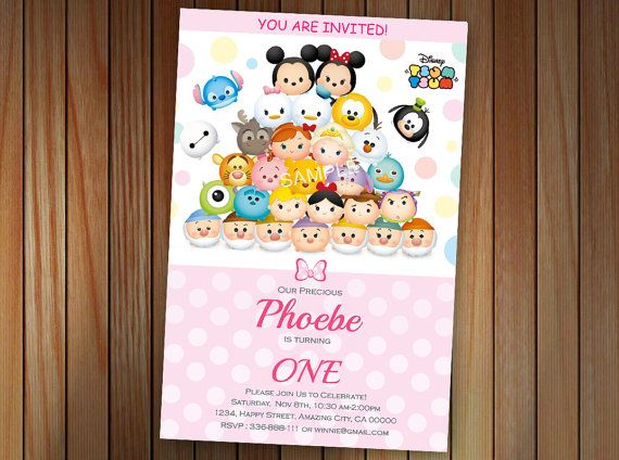 Tsum Tsum Minnie Mouse Mickey Mouse Birthday by pastagetti on Etsy
