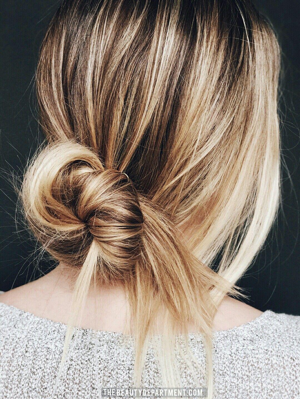 Low Messy Bun Hair Styles Curly Hair Styles Long Hair Styles