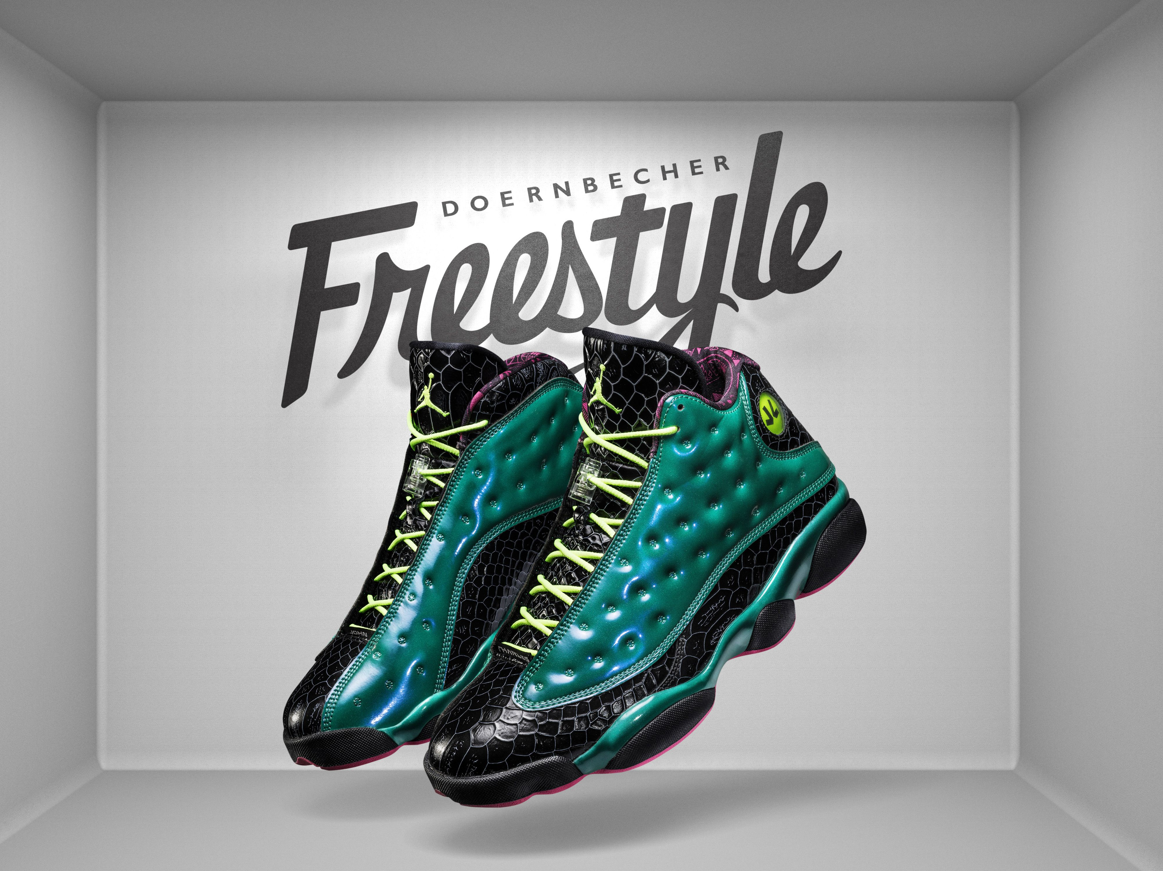Buy Nike Air Jordan 13 Retro Cheap sale Black Pink Green