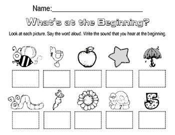 Free Worksheets » Beginning Sounds Worksheets Kindergarten - Free ...