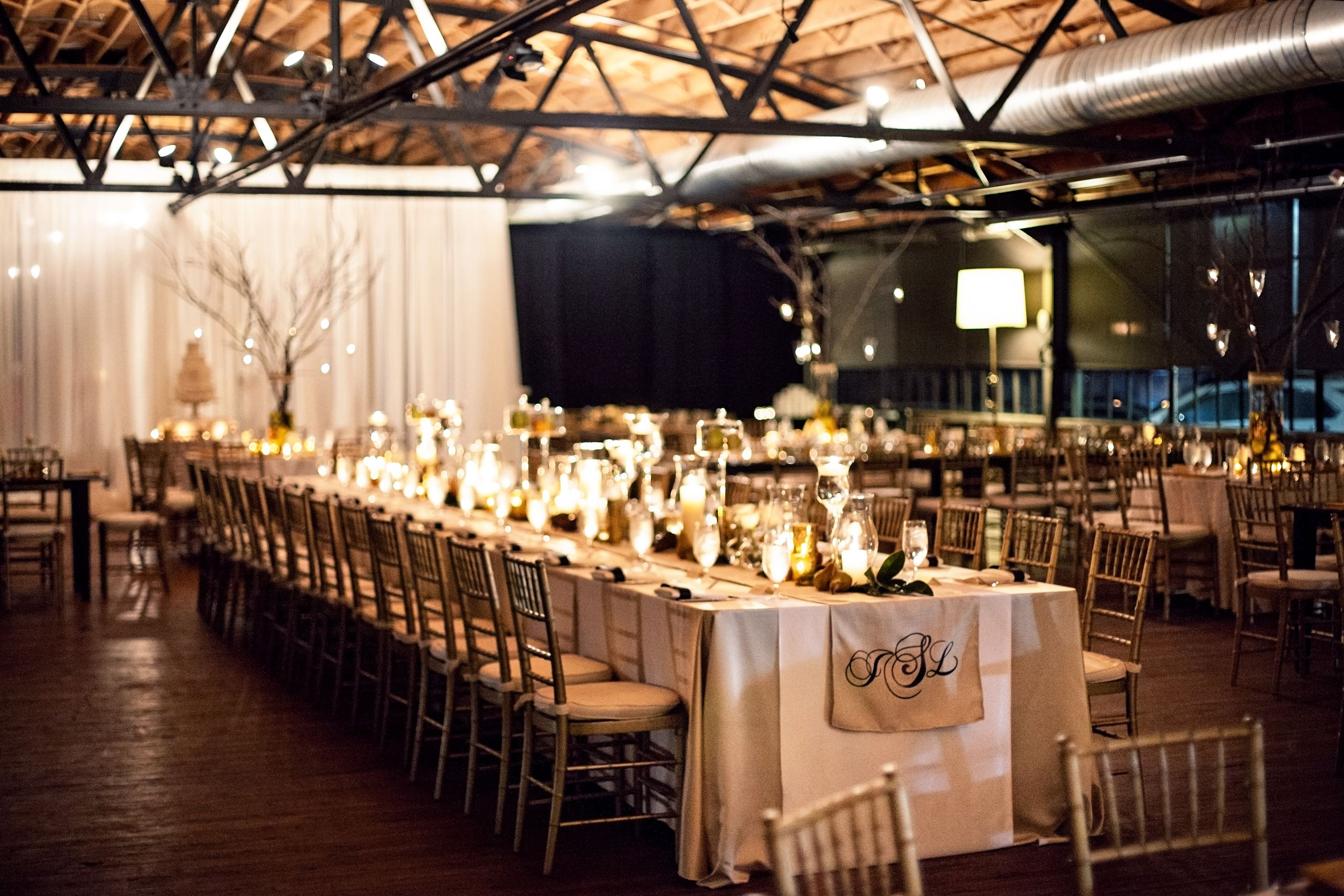 Loving the seating arrangement and the skirting winter wedding minimalist couples rock it with industrial wedding themes wedding cake toppers junglespirit Image collections