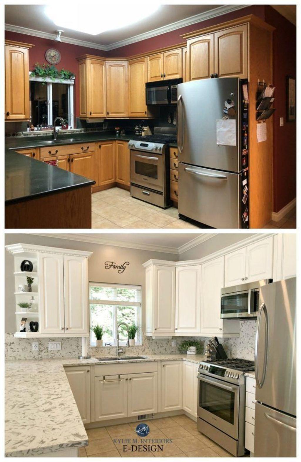37 Marvelous Farmhouse Kitchen Cabinet Makeover Design Ideas To Try Kitchen Diy Makeover Kitchen Makeover Kitchen Design