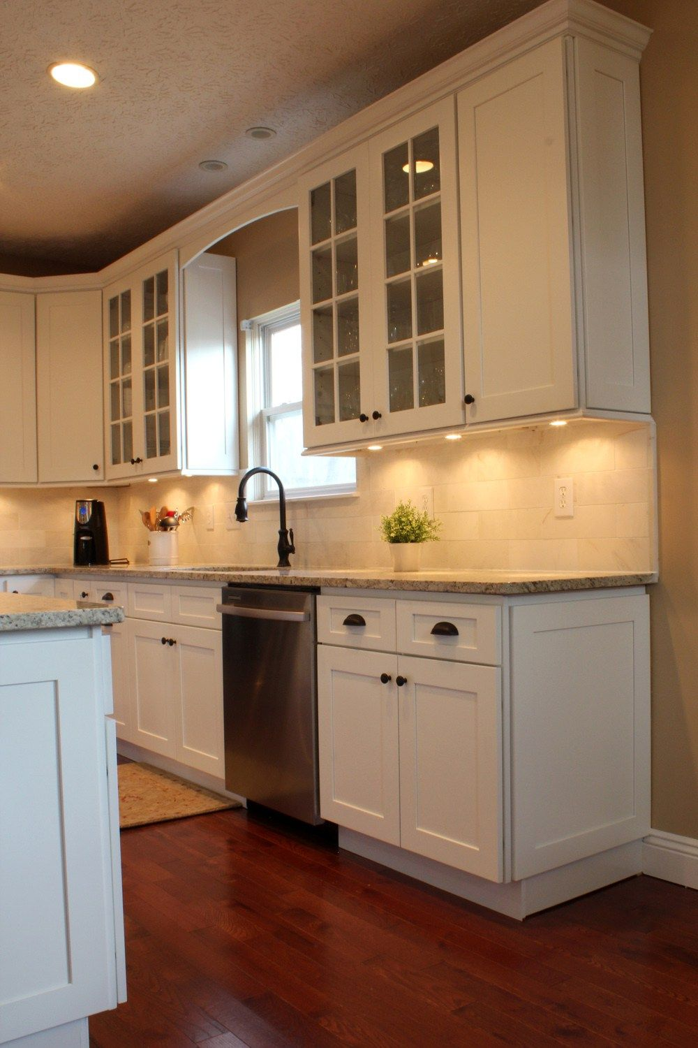 Best Open Above Even Kitchen Remodel Powell Ice White Shaker 400 x 300