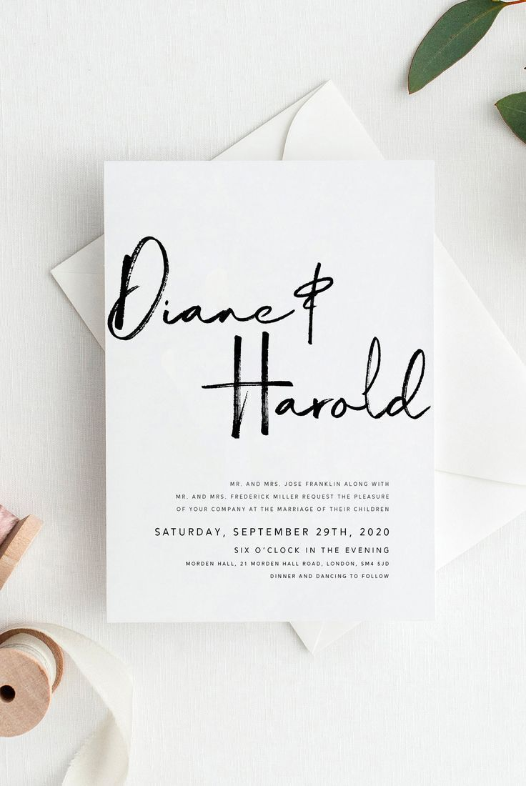 Modern, classic, timeless, minimal and elegant... Our 2019 wedding invitation collections include both calligraphy invitation suites and floral designs. With a touch of watercolor effect, some invitations are more colorful and with only a little calligraphic effect, some are very minimal and elegant. | modern wedding invitations, invitations wedding, invitation, wedding stationery, wedding stationary, modern weddings, wedding invites, wedding invitations elegant, wedding invitations diy