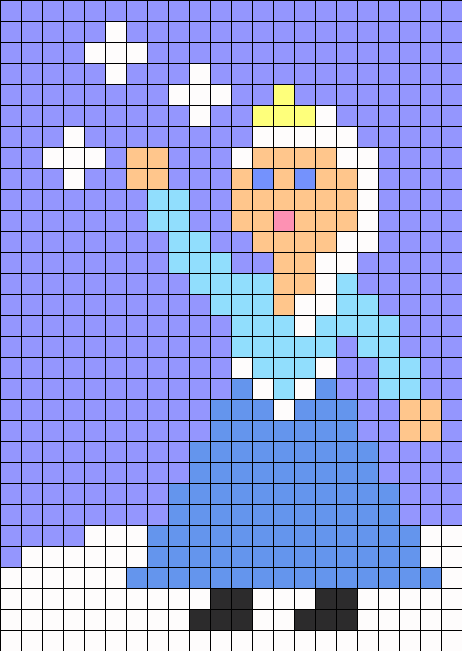 Elsa From Frozen perler bead pattern