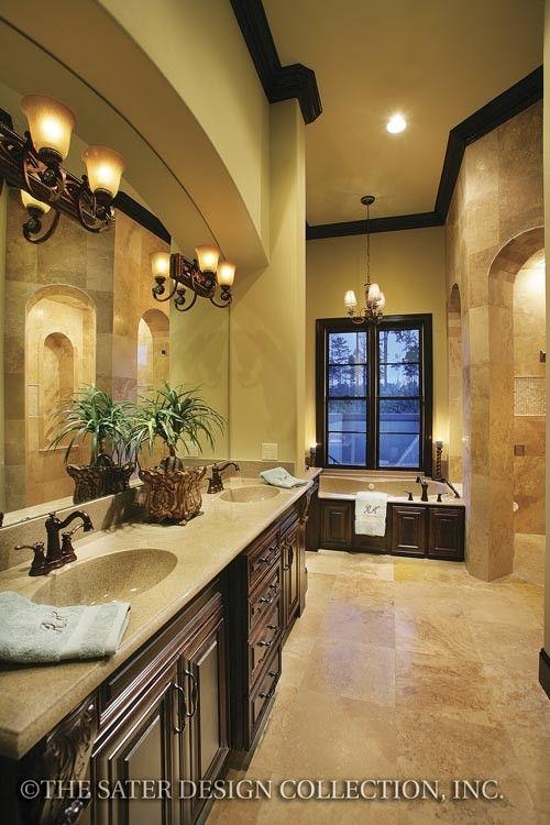 Ferretti House Plan Tuscan Bathroom Decor Tuscan Bathroom Mediterranean Style House Plans