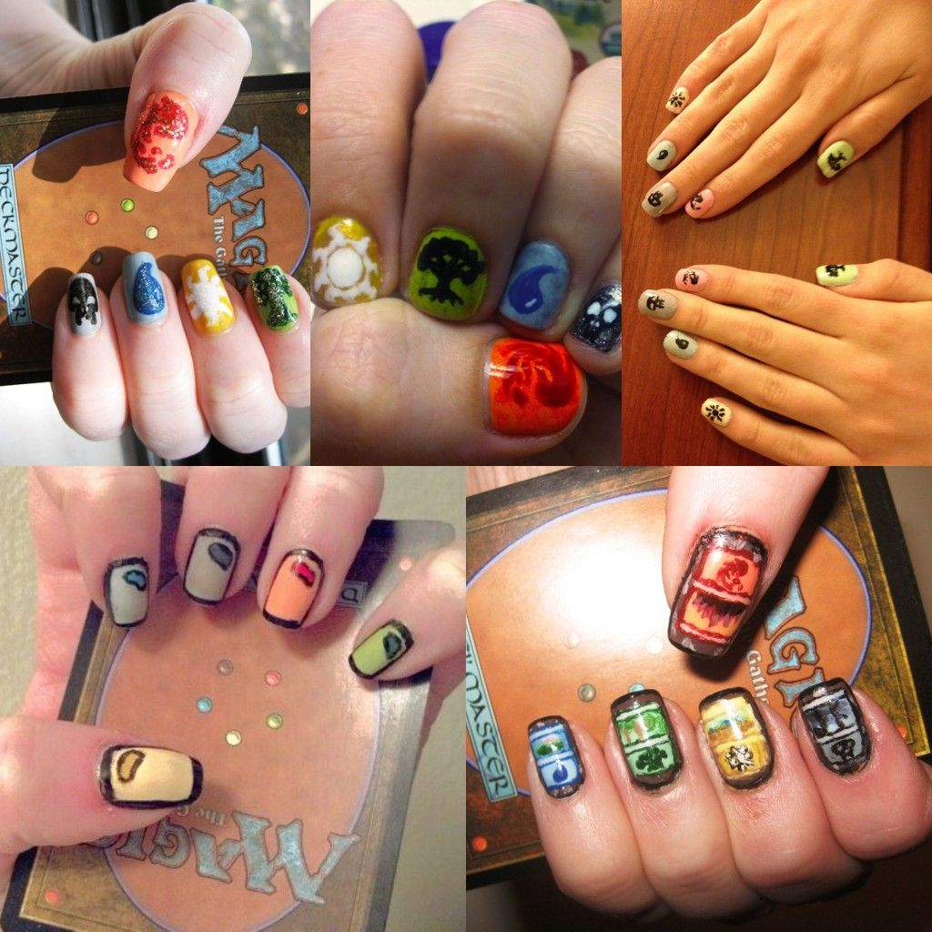 Beautiful Magic: the Gathering nails design | *Magic | Pinterest ...