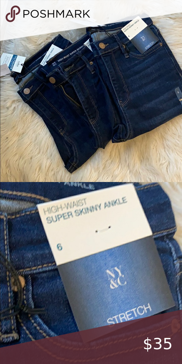3 Pairs Of High Waisted Dark Blue Jeans High Waisted Dark Blue Jeans Dark Blue Jeans Blue Jeans