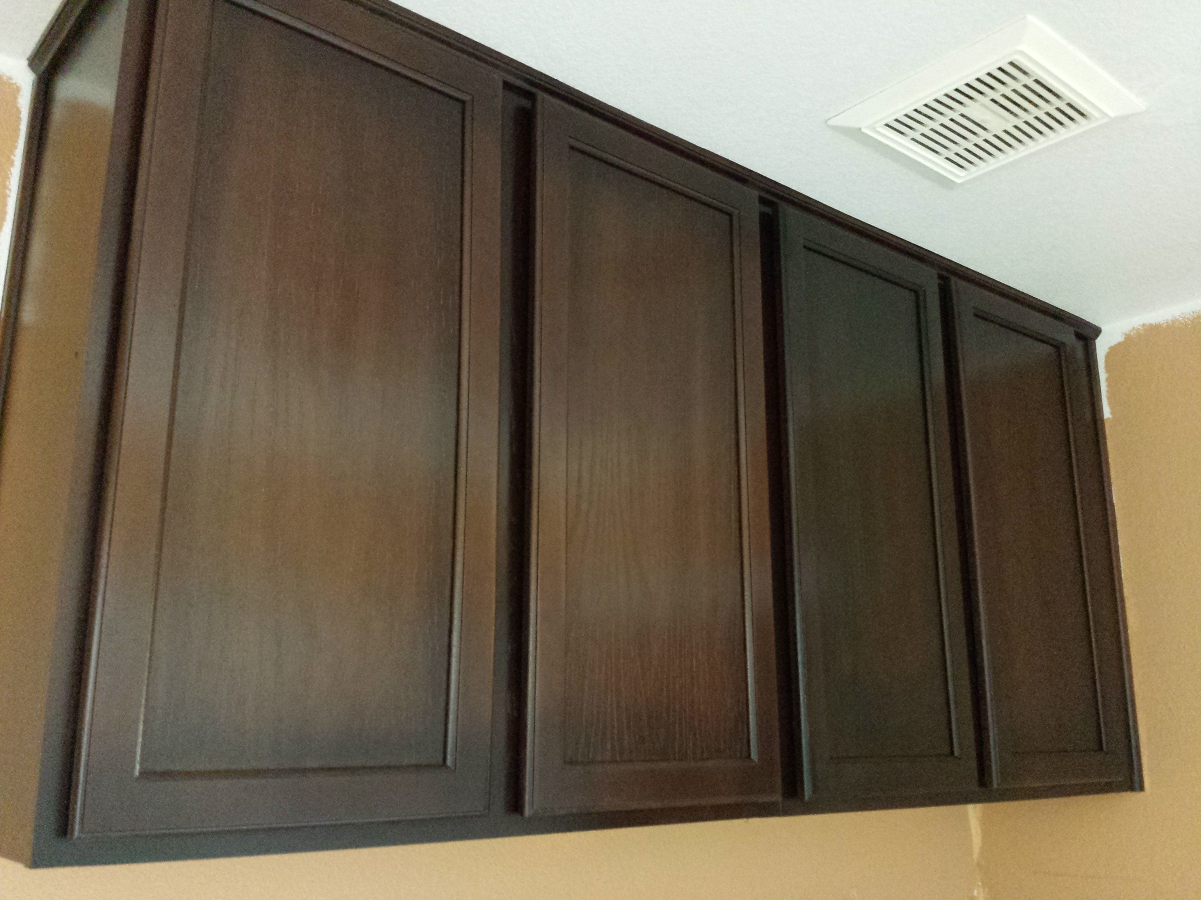 Ideas Inspiring Painting Oak Cabinets Dark Brown Kitchen Home