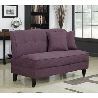 Portfolio Engle Amethyst Purple Linen Armless Loveseat Shopping The Best Deals