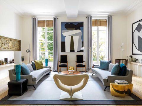 Modern Interieur Schilderij : Un apartamento del xvii decorado con arte decoration interieur