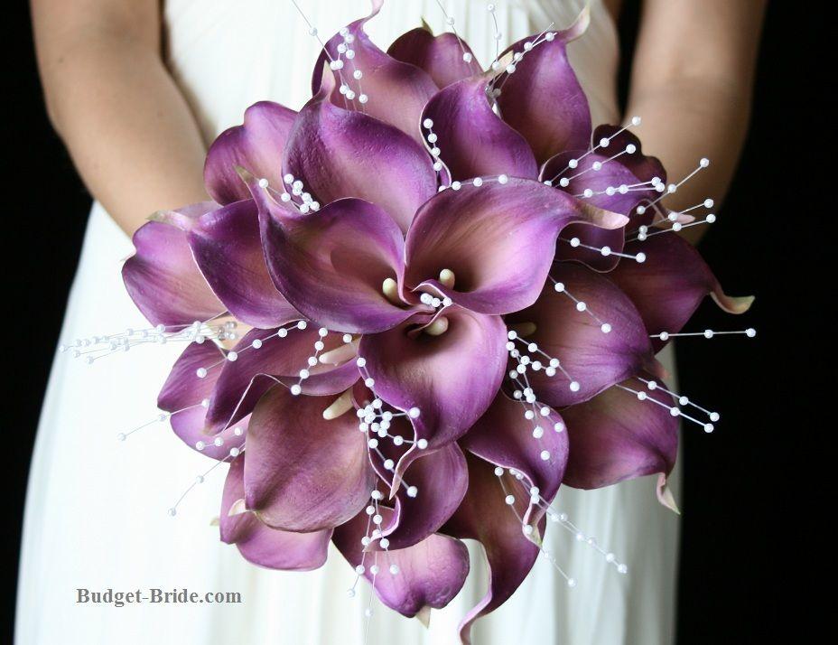 Purple Wedding Bouquet Purple Calla Lily Bouquet Purple Bouquet