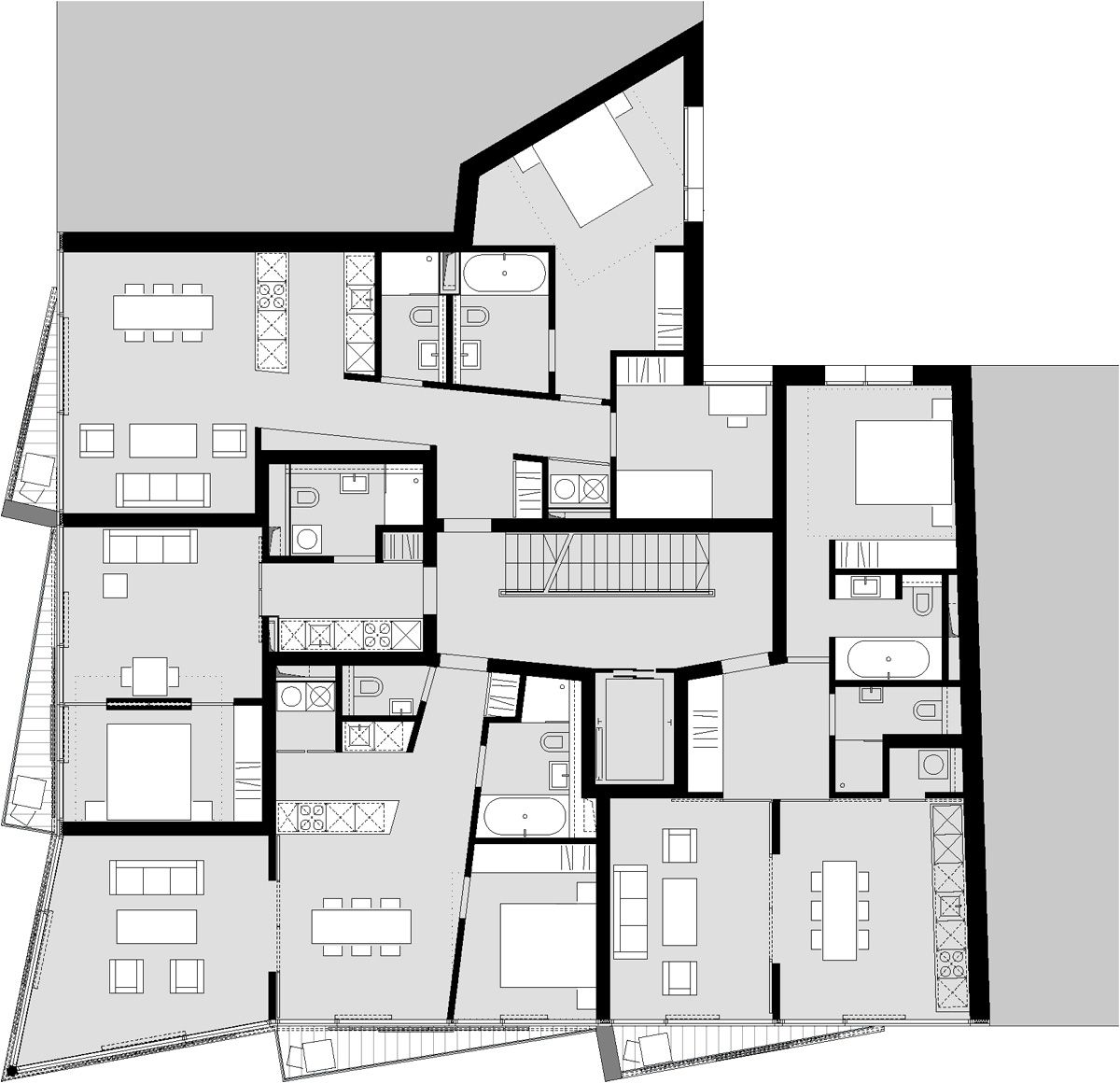 grundriss regelgeschoss michels architekturb ro gmbh residental pinterest grundrisse. Black Bedroom Furniture Sets. Home Design Ideas