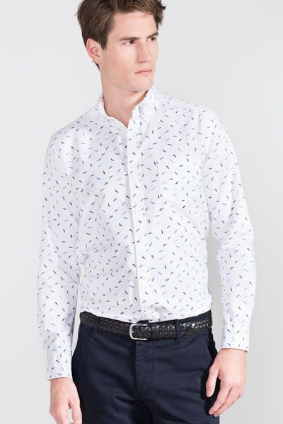 b419f73648b Cortefiel Oxford printed shirt White