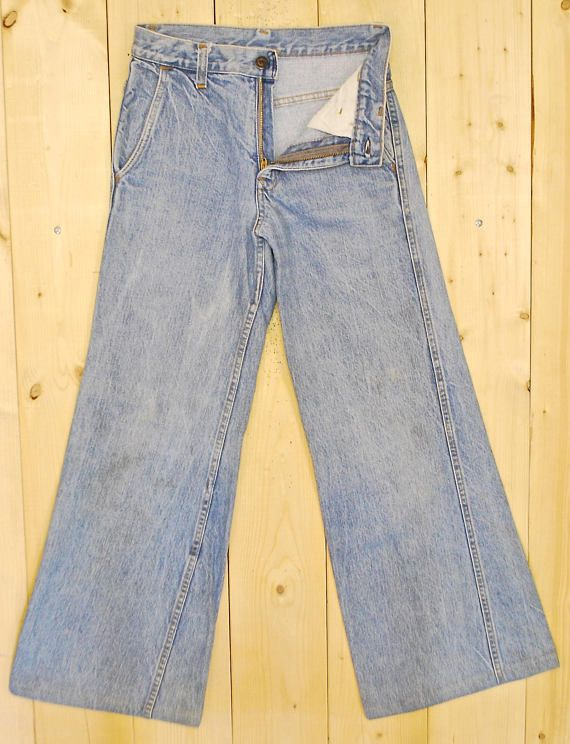 Vintage 1960s 70s Levis Orange Tab Denim Flare Jeans Metal Lightening Zipper Perfect Vintage Fade And Wear Ver Denim Flare Jeans Flare Jeans Denim Flares