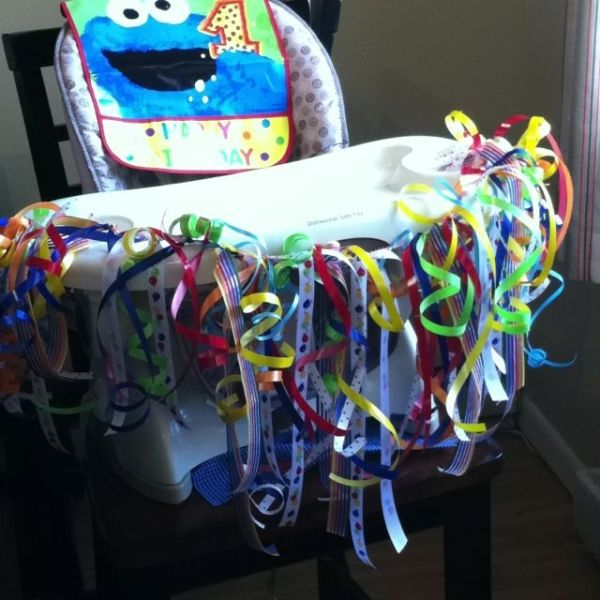 First Birthday High Chair Decoration By Brendaq