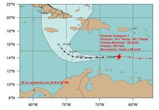 ASOCIACION ECOLOGISTA RIO MOCORETA: HURACÁN MATTHEW AVANZA HACIA EL MAR CARIBE CENTRAL