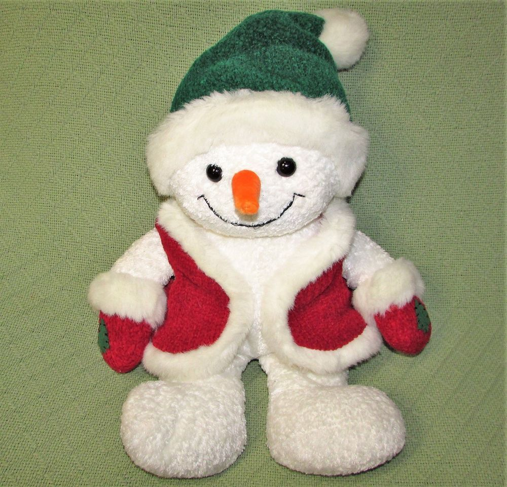 "Details about Christmas PENGUIN 15"" Plush w/ Red Santa Hat"