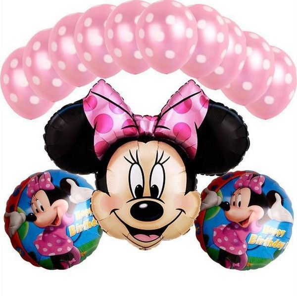 9fa0f8ac6c 13 PCS/lot Minnie Mouse theme party decoration Combination suit balloons  Wedding birthday party decoration foil balloon Hot sale