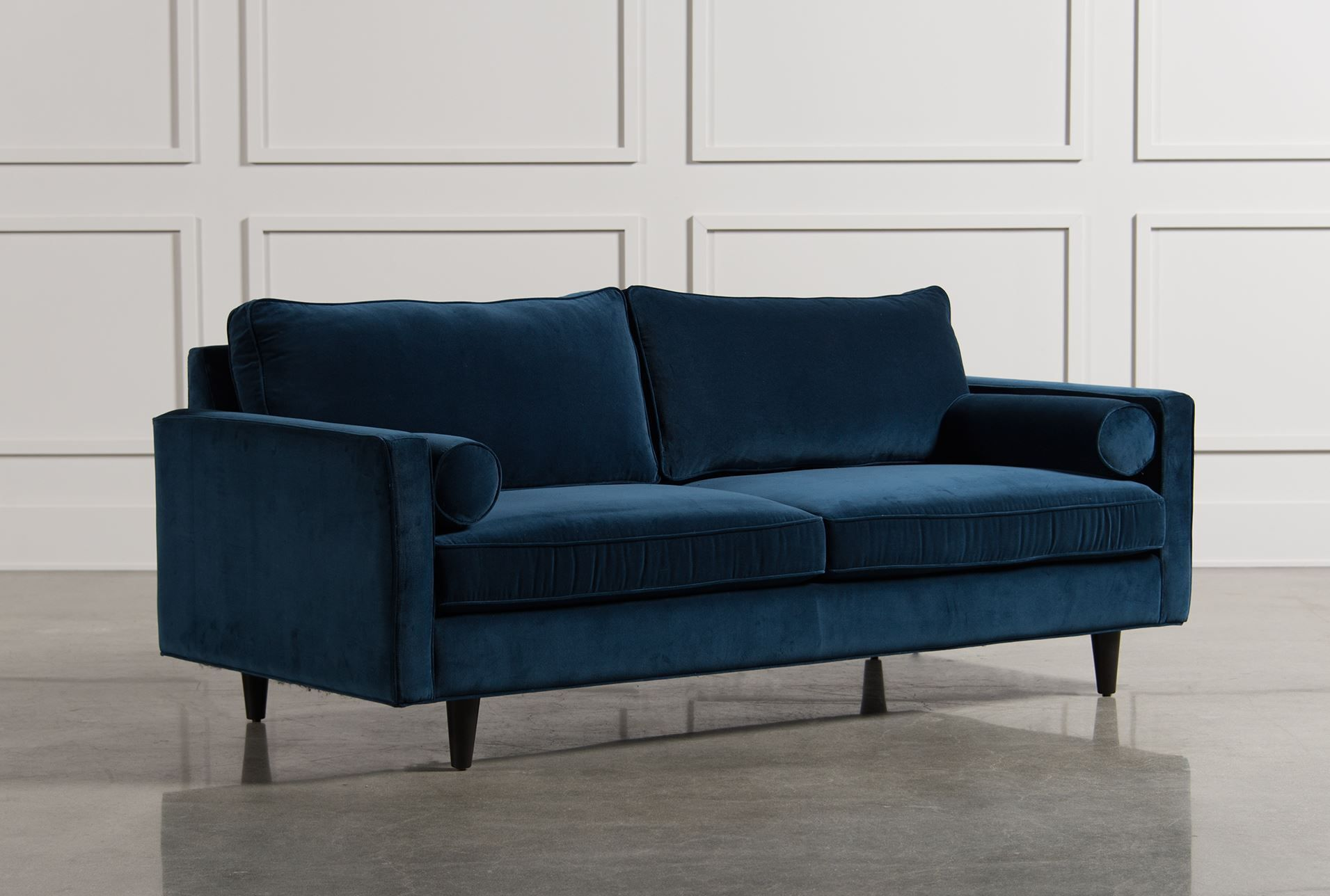 $795 velvet great reviews deep not too high Remington Sofa