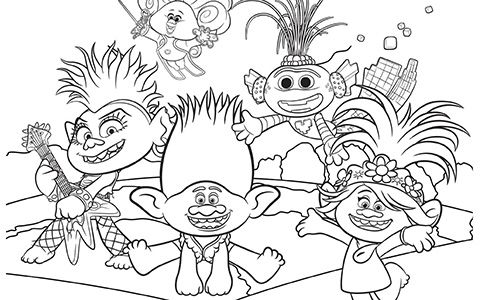 Trolls World Tour coloring pages in 2020 | Coloring pages ...
