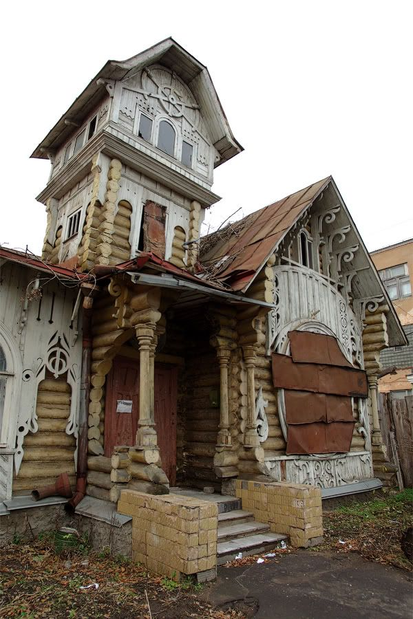 """Abandoned House in *Kimry (Tver region), Russia*"" -- [The ..."