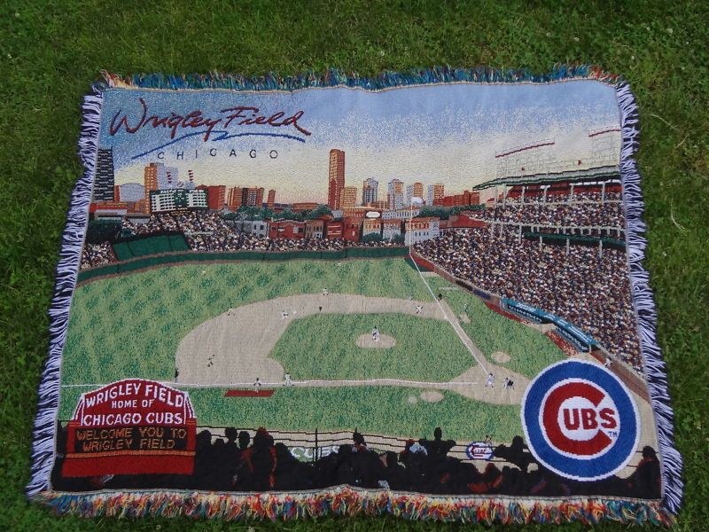 Chicago Cubs Throw Blanket Afghan Tapestry Wall Hanging 60 x 48 inches #ChicagoCubs