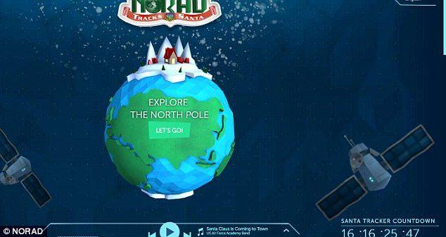 Final Christmas countdown with NORAD santa tracking app