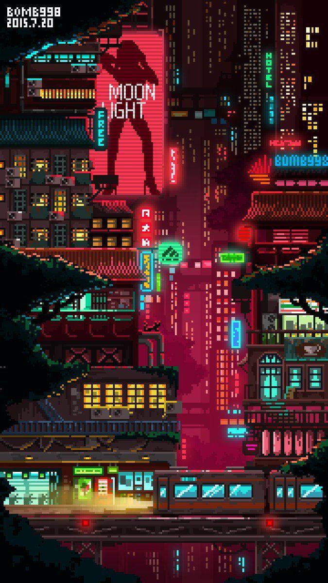 Chinese Alley Ways Pixel Art Art Wallpaper Cute Art