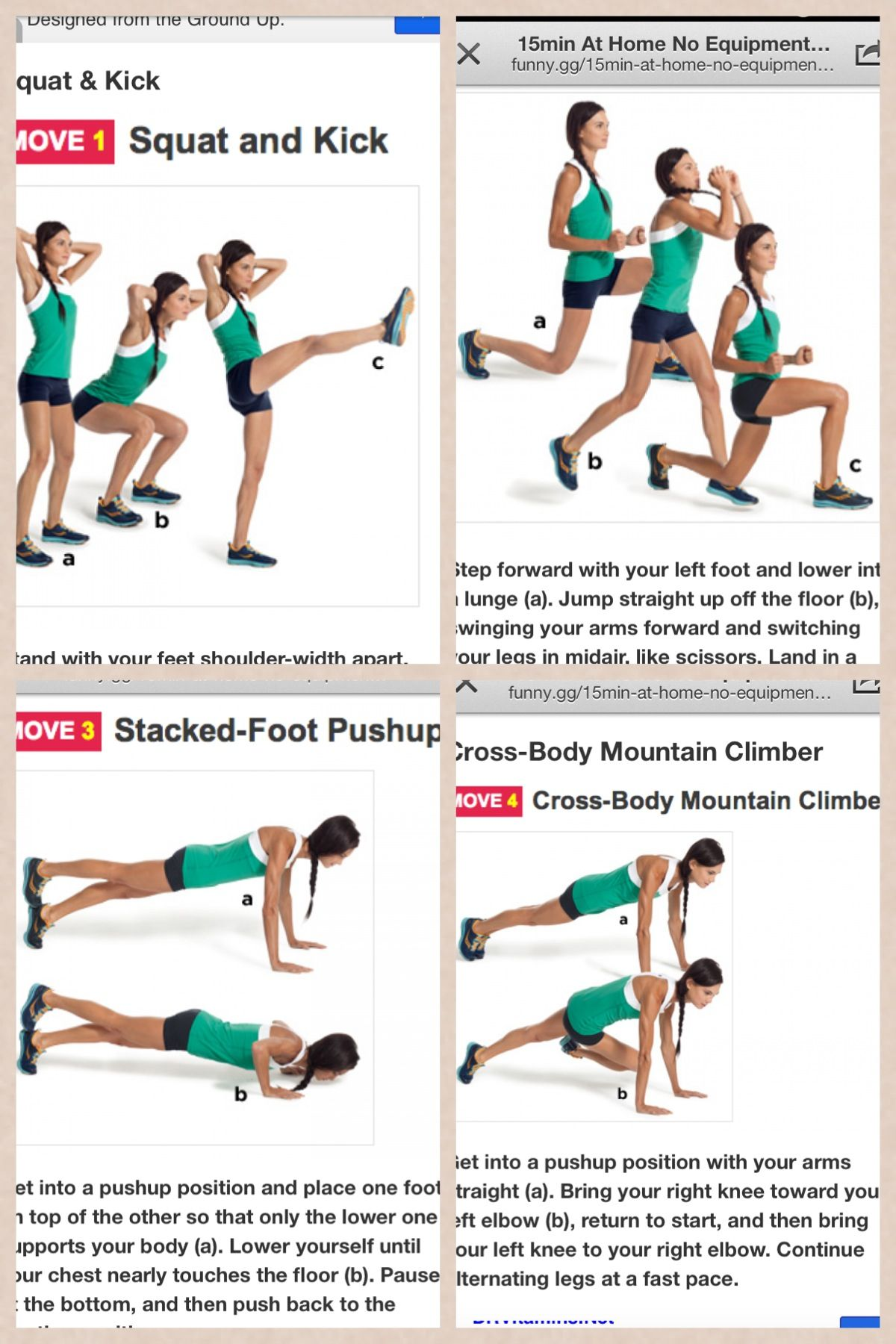 15 minute workout, no equipment.
