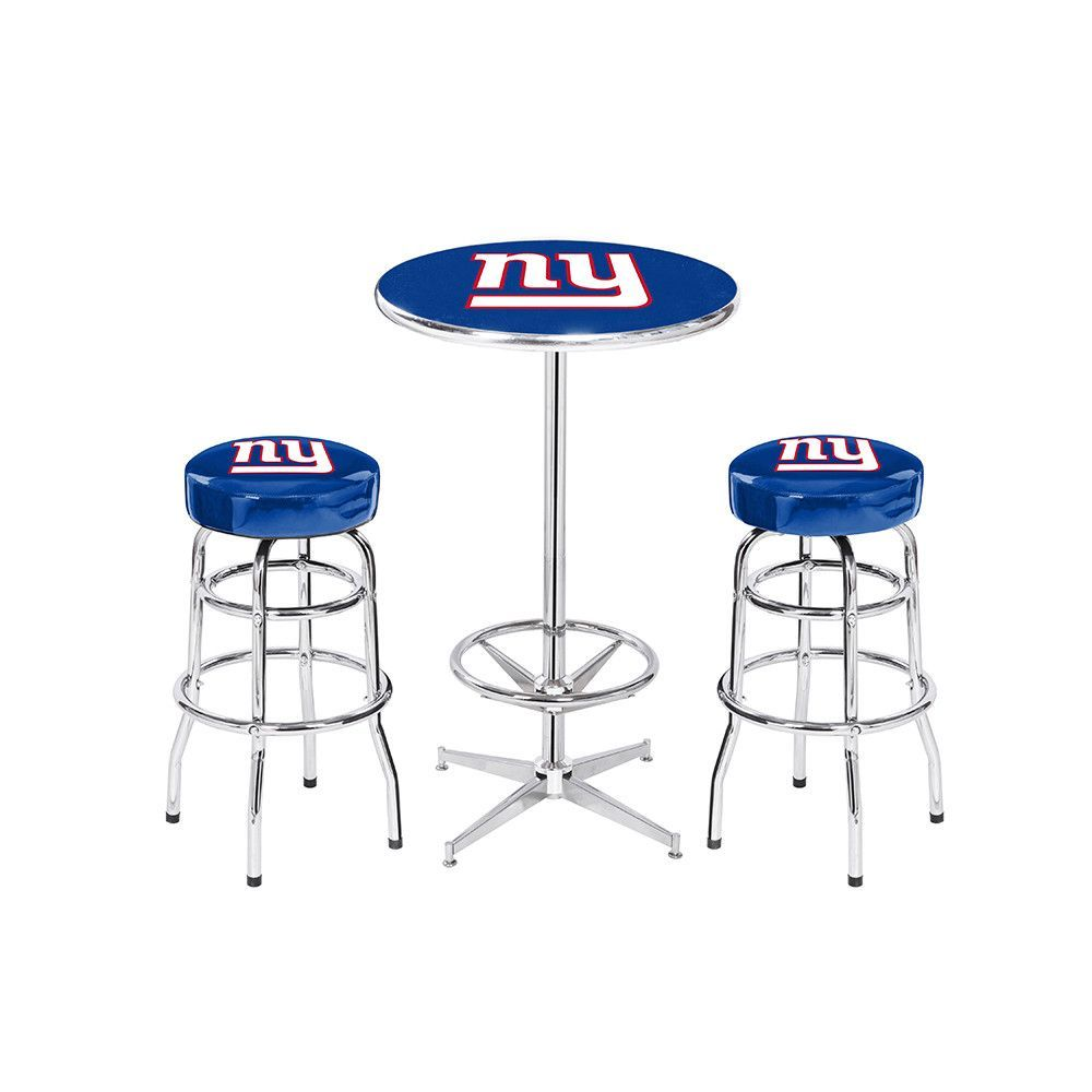 New york giants nfl pub table and barstool set 3 piece set new york giants nfl pub table and barstool set 3 piece set watchthetrailerfo